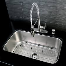 Kitchen Sink And Faucet Combo by Undermount 1 Bowl Kitchen Sink Combo W Faucet Strainer Grid