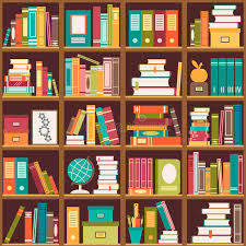 Bookcase With Books Bookshelf With Books Seamless Background Stock Vector Image