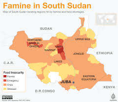 Where Is Syria On A Map by Famine Declared In Part Of South Sudan U0027s Unity State South Sudan