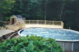 inimitable above ground pool decks with wood swimming pool deck