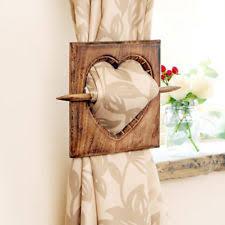 wooden curtain tie backs ebay