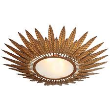 Ceiling Flush Mount Light Fixtures French Bronze Starburst Flush Mount Light Fixture For Sale At 1stdibs