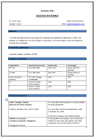 corporate resume format 10000 cv and resume sles with free resume format