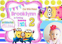 minion birthday invitation free printable invitation design