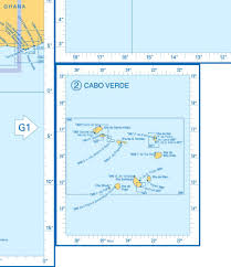 Cabo Verde Map Admiralty Charts West Africa And Cabo Verde Islands G 65