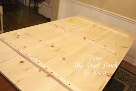 Building A Wooden Desk Top by From My Front Porch To Yours Diy Wood Plank Table Top Reveal