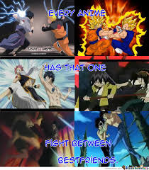 Best Anime Memes - how anime characters become best friends by omegashenron meme center