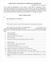 Sle Certification Letter Of Leave No Objection Certificate Template 8 Free Word Pdf Document
