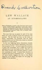 lew wallace autobiography complete works lew lewis wallace free