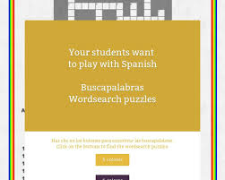 buscapalabras wordsearch puzzles tackk teaching spanish