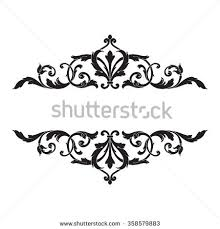 deco design elements vintage ornaments stock vector 599530127