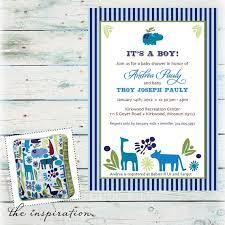 Safari Boy Baby Shower Ideas - baby shower invitations