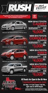 black friday car sales toyota black friday sale camry corolla rav4 tundra grapevine tx