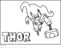 86 thor coloring pages free printable free avengers