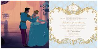 cinderella wedding invitations cinderella inspired wedding invites plus 6 more disney princess