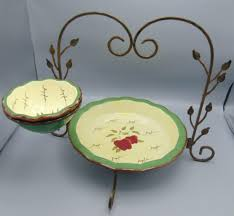 homco home interiors homco home interiors apple orchard collection chip and dip w rack