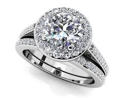 Wedding Set Rings by Customize Your Wedding Set U0026 Matching Diamond Bridal Set