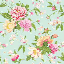 Peony Flowers Vintage Peony Flowers Background Seamless Floral Shabby Chic