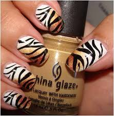 zebra pattern nail art 50 animal themed nail art designs to inspire you