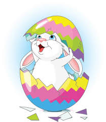 bunny easter easter bunny and eggs vectors