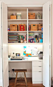 Small Apartment Office Ideas Desk Splendid Love The Crate Desk Small Closet Home Office Ideas