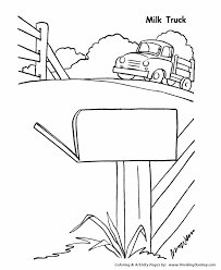 farm equipment coloring pages printable farm milk truck coloring
