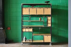 Bookshelf Drawers Chicago Custom Steel Furniture Tremont Steel