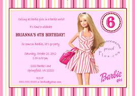 Birthday Invitation E Card Unique Ideas For Barbie Birthday Invitations Free Egreeting Ecards