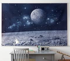 Kids Space Room by Space Mural Pottery Barn Kids