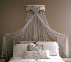 Draping Fabric Over Bed Ornate Shelf Turned Canopy Crown I Already Have One Of These