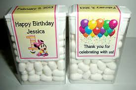 1st birthday party favors 14 baby minnie mouse 1st birthday party favors tic tac labels