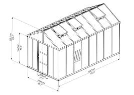 Greenhouse Palram Glory Premium Class Hobby Greenhouse Poly Tex