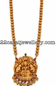long gold beads necklace images Gold beaded laxmi long chain jewellery designs jpg