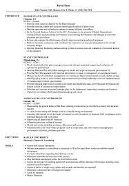 assistant controller resume samples plant controller resume samples velvet jobs