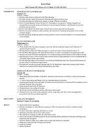 resume of financial controller plant controller resume samples velvet jobs