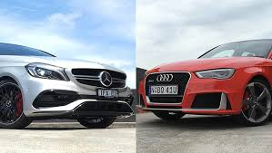 audi mercedes mercedes a45 amg vs audi rs3 review carsguide
