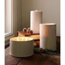 thymes candles thymes frasier fir ceramic pillar candle the century house