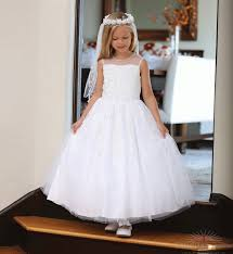 communion dress communion tea length dress with beading catholic