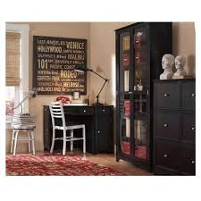 Melrose Home Decor Red Bookcase With Doors 7763