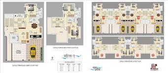 100 duplex row house floor plans 20x30 house plans in