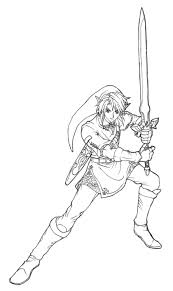 28 Collection of Link Twilight Princess Coloring Pages  High