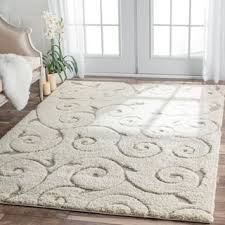 Thick Area Rugs Magnolia Garden Sculpted Wool Area Rugs Palnts And Flowers Pattern