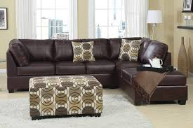 Brown Leather Sectional Sofa by Sectional With Chaise Lounge Delma 3pc White Faux Leather Left