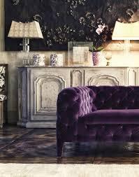 canapé chesterfield violet 80 idées d intérieur pour associer la couleur prune