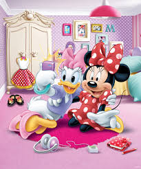disney minnie mouse bedroom mural 8ft 6ft 6