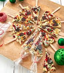 chocolate bark christmas tree pops recipes cadbury kitchen