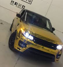 gold chrome range rover images tagged with goldchromewrap on instagram