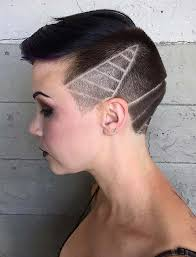 women haircuts with ears showing 45 undercut hairstyles with hair tattoos for women fashionisers