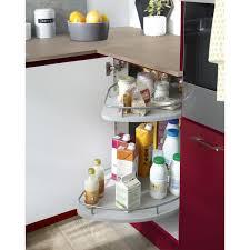 meuble d angle bas pour cuisine rangement coulissant 2 paniers tirant gauche pour meuble d angle