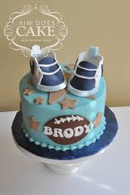 sports baby shower cake with nike shoes cakecentral com